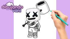 How To Draw Marshmello From Fortnite Kawaii Como Dibujar A Marshmello De Fortnite Paso A Paso Dibujos Para Dibujar Pixel Art Drawings Kawaii