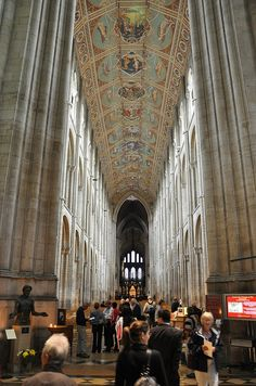 Jesus Story on the Ceiling of the Nave in Ely Cathedral - Ely, England
