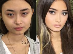Goar Avetisyan is a gifted make-up artist of a particular kind. Power Of Makeup, Love Makeup, Makeup Tips, Beauty Makeup, Hair Makeup, Hair Beauty, Bridal Makeup, Wedding Makeup, Asian Makeup Before And After