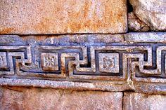 Meander symbol, Ephesus Turkey Would be great design for quilt border