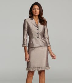 da3394ca8ac4 Tahari by ASL 2-Piece Shimmer Skirted Suit | Dillards.com