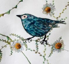 Machine embroidered and appliqued textile by Bev Holmes-Wright, www.stitchingforthesoul.co.uk