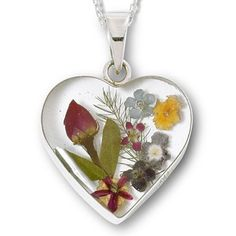 Pressed Flower Heart Pendant - jcpenney