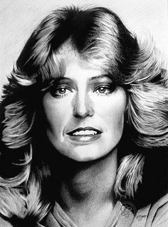 Farrah Fawcett by pbradyart, via Flickr