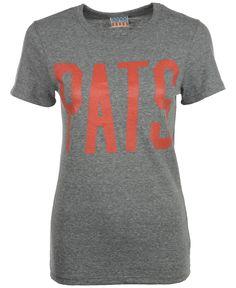 Women's New England Patriots Nike Red Wordmark Cotton Crew 2 T-Shirt