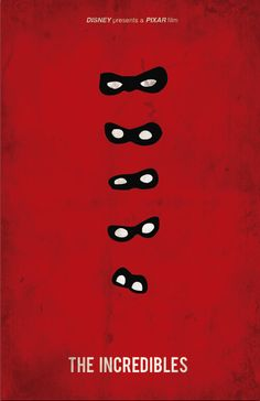 The Incredibles (2004) - Minimal Movie Poster by Jacquelyn Halpern