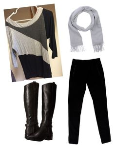 """""""Business Casual Grey Black Tunic"""" by amy-flannery-skaar on Polyvore featuring Joseph and Dolce Vita"""