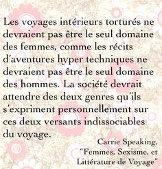 """Citation de """"Femmes, Sexisme et Littérature de Voyage"""""""