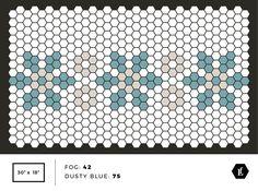 Tile Mat Inspiration – Letterfolk Hexagon Tiles, Hexagon Quilt, Mosaic Tiles, Tiling, Hexagons, Patchwork Patterns, Tile Patterns, Beading Patterns, Print Patterns