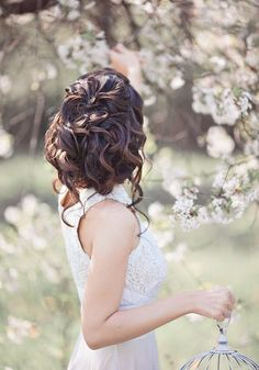 Lush wedding hairstyle with curls #hot #sexy #hairstyles #hairstyle #hair #long #short #buns #updo #braids #bang #blond #wedding #style #haircut #bridal #curly #bride #celebrity #black #white #trend #bob #girl #pantyhose #stockings #bikini #legs