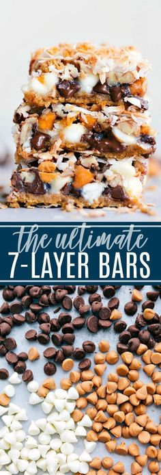 A classic dessert that is always a hit 7 Layer Bars with a buttery graham cracker crust, baking chips, and coconut. The ULTIMATE easy dessert bar! Easy Dessert Bars, Low Carb Dessert, Dessert Simple, Weight Watcher Desserts, Köstliche Desserts, Delicious Desserts, Dessert Recipes, Desserts Caramel, Food Cakes