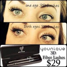 Get lashes like this with Younique Fiber Lash. 3d Mascara, 3d Fiber Lashes, 3d Fiber Lash Mascara, Thick Lashes, False Lashes, Younique, Make Up Organiser, 3 D, Eye Makeup