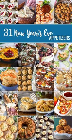 31 NEW YEAR'S EVE APPETIZERS to make ringing in the New Year fabulous! Snacks, dips, and more perfect for tailgating, NYE, and every day in between! Happy New Year! Source by Related posts: 30 Savory Appetizers for New Year's Eve – … New Years Eve Party Ideas Food, New Years Eve Snacks, New Year's Snacks, New Year's Eve Appetizers, Finger Food Appetizers, Appetizer Recipes, New Years Eve Menu, New Year Menu, Appetizers For New Years