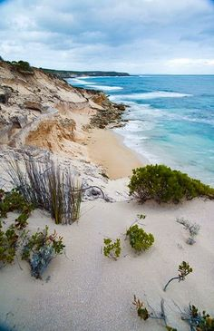 Beach at Lincoln National Park, Australia.