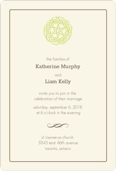 Celtic Knot Wedding Invitation