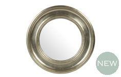 Alena Round Mirror - Champagne
