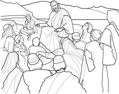"""""""The Sermon on the Mount"""" coloring page for children from lds.org. #ldsprimary #mormon"""
