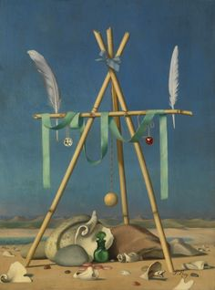 Surrealist Still Life (Pirate Souvenirs). Pierre Roy 1880 - 1950. Oil on canvas