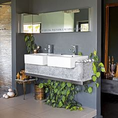 Bathroom   Concrete Cape Town home   House tour   PHOTO GALLERY   Livingetc   Housetohome.co.uk