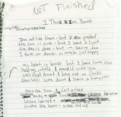 Lyrics to 'Dumb' by Kurt Cobain