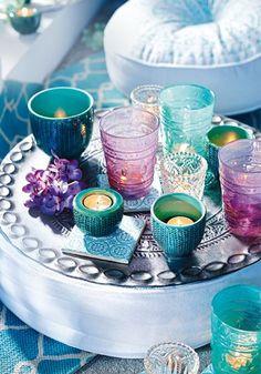 Superschöne Idee für lauschige Abende auf dem Balkon: Oriental Feeling mit…
