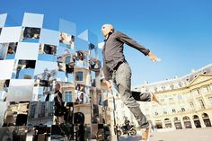The Ring installation byArnaud LapierreinPlace Vendôme in Paris, France plays with the context of this urban space through reflections, light and...