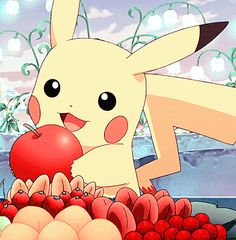 The perfect Pikachu Apple Pokemon Animated GIF for your conversation. Discover and Share the best GIFs on Tenor. Pokemon Go, Pichu Pokemon, Pikachu Raichu, Pikachu Art, Cute Pikachu, Pokemon Cards, Cute Pokemon Wallpaper, Pokemon Pictures, Chibi