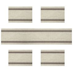 Placemats For Kitchen Table U Artlines Vinyl Insulation Elegance Simple Placemat Washable Mats Set Of 4 With A Compatible Runner Coffee Stripe