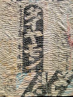 """新潟市医学町通り、にいがた「銀花」というギャラリーで、BOROを継ぎ合わせ、チクチク刺す、日日  Niigata City  is, in the gallery of Niigata """"Ginka"""", and pieced together the BORO, chiku-chiku, day"""