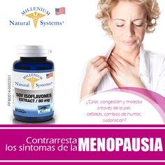Los Isoflavonoides de la Soya son sustancias de la planta, químicamente  similares a la hormona femenina estrógeno. Son una manera natural de mantener los niveles de estrógeno del cuerpo, que declinan el envejecimiento, y de contrarrestar así los síntomas de la menopausia. Cuidate y se una mujer naturalmente feliz