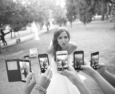 A nice photo idea to be done with your bridesmaids..