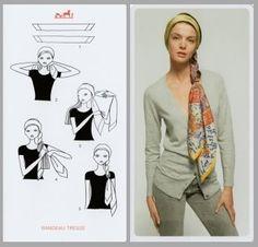 Noeud foulard en tresse comment faire ?