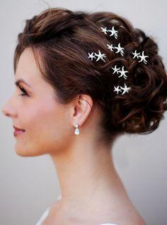 2014 Sliver Beach Wedding Hair Accessories, Starfish Hair Accessories, Beach Bridal Hair Accessories www.loveitsomuch.com