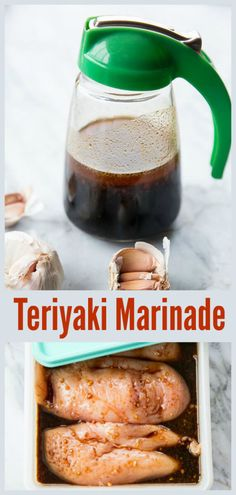 The BEST Teriyaki Marinade Recipe! This marinade recipe has a few ingredients that make this the best Teriyaki marinade! Chinese Chicken Marinade, Chicken Marinade Recipes, Chicken Marinades, Sauce Recipes, Cooking Recipes, Fondue Recipes, Grill Recipes, Cooking Ideas, Fish Recipes