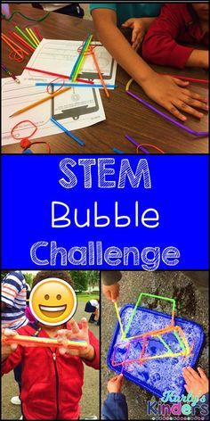 STEM Bubble Challenge is an exciting way to promote critical thinking skills and problem solving. This pack includes two STEM challenges in which students must problem solve to create bubble wands for each challenge. Afterwards, students test out their en End Of Year Activities, Steam Activities, Science Activities, Holiday Activities, Summer Activities, Stem Projects, Science Projects, School Projects, Kindergarten Stem