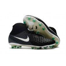 Botas De Futbol Nike Magista Obra II FG Negro Blanco Verde Tienda Online a18a040234324