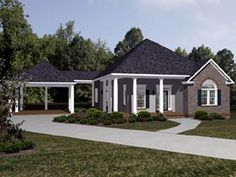 Elevation of House Plan 96716