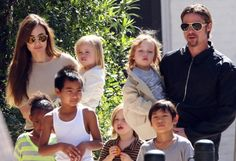 The Jolie-Pitts have built an amazing and beautiful blended family. Did you know that Angelina is pregnant again? #celebrities #family