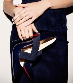Jewel-toned nail appliqués at Cushnie et Ochs