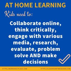 Are you looking for strategies to help you kids learn at home? Check out the great suggestions at classroomtimesavers. Home Teaching, Free Worksheets, Problem Solving, Kids Learning, Classroom, Check, Class Room, Squad