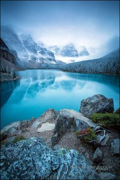 Winter's Approach by Dani Lefrancois on 500px | Moraine Lake, Banff National Park