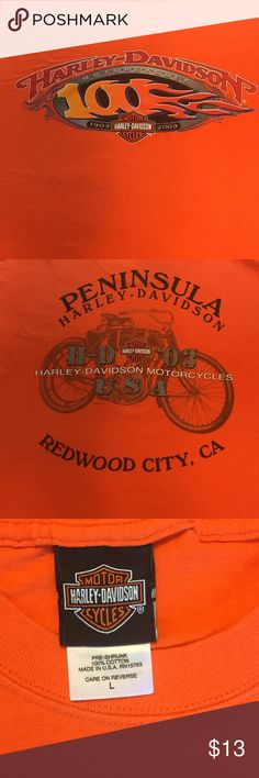 "A Harley-Davidson T Shirt from Redwood City, Ca. From Peninsula Harley-Davidson in Redwood City, Ca. The length is 29"", shoulders are 21"", and pit to pit measures 21"". NWOT Harley-Davidson Shirts Tees - Short Sleeve"