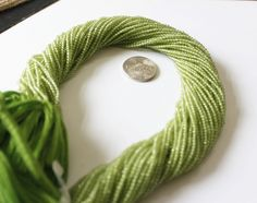60% OFF AAA Quality Natural 2 mm - 2.5 mm Green Peridot Rondelle beads 13.5 inches length Faceted Rondelle Strand by colorvilla on Etsy