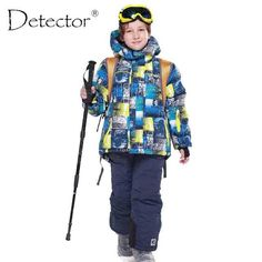 DETECTOR Waterproof Winter Ski Snowboard Set - Kid's