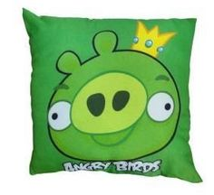 Official Licensed GENUINE Angry Birds Green Pillow Cushion - Licensed Angry Birds Merchandise