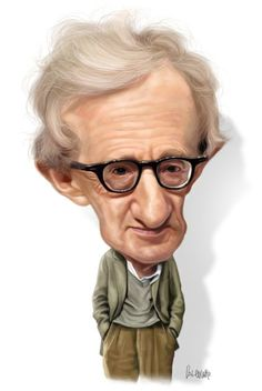 Caricaturas de famosos de hollywood woody allen