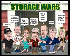 """Storage Wars. Barry says """"I think I see a deer back there but no dough"""". Dave says """"YUUUP!!!"""""""