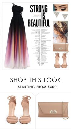 """""""Prom Night"""" by medina-unique ❤ liked on Polyvore featuring Stuart Weitzman, Christian Louboutin and Lizzie Mandler"""