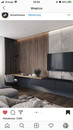 Home Room Design, Home Office Design, Home Interior Design, Home Living Room, Living Room Decor, Modern Tv Room, Living Room Tv Unit Designs, Apartment Interior, Living Room Inspiration