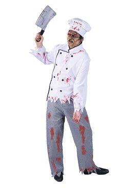 D guisement zombie chef cuisinier adulte halloween for Cuisinier zombie